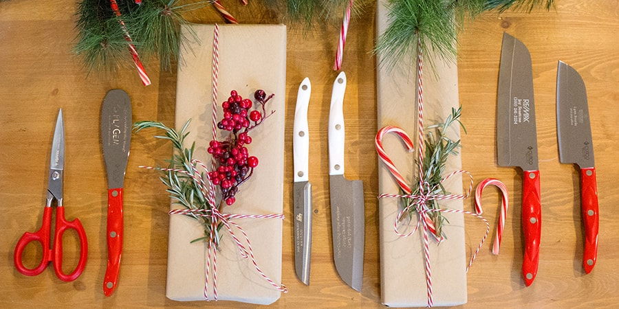 Red and White Cutco Knives